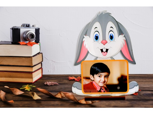 Cool Rabbit Acrylic Cartoon Photo Stand