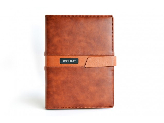 Two Tone Tan Personalised Business Planner