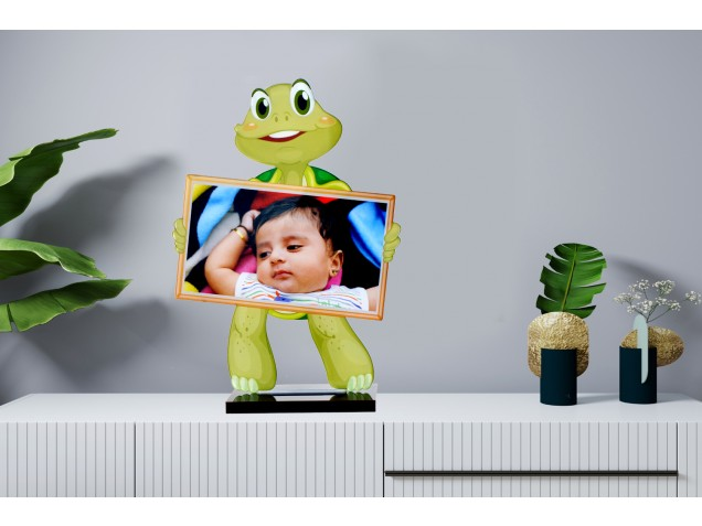 Dancing Turtle Acrylic Cartoon Photo Stand