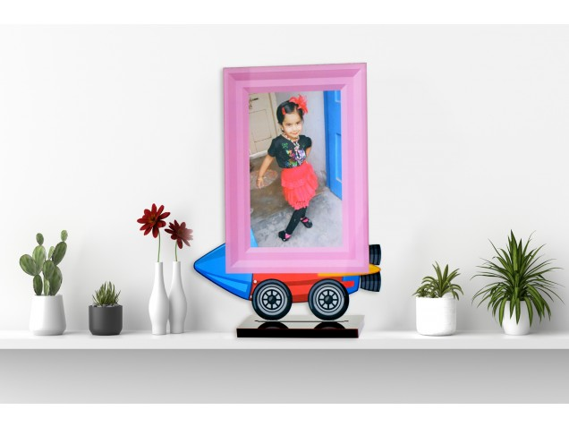 Fly to Space Acrylic Cartoon Photo Stand
