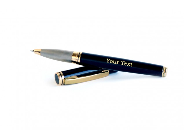 Black with matte grey Magnetic Personalised pen