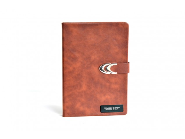 Tan Thermo PU Personalised Diary