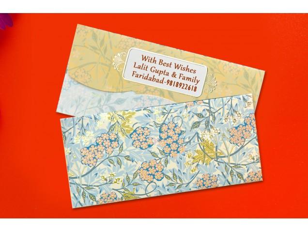 Forest Floral Shagun Envelopes Personalised- Pack of 12