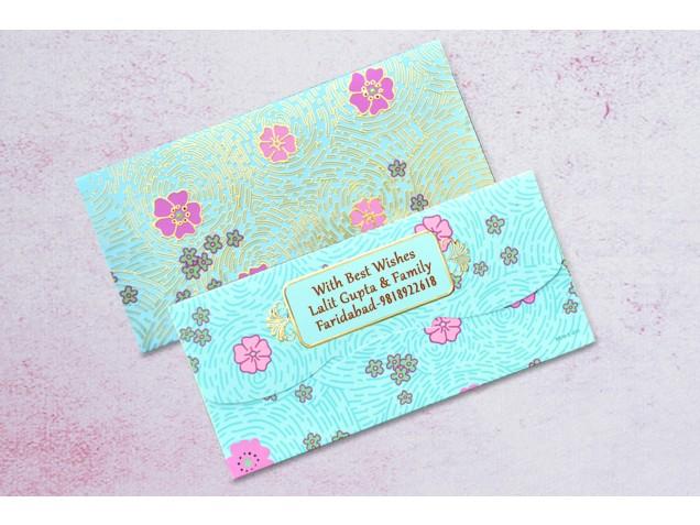 Finger Print Shagun Envelope Personalised- Pack Of 12