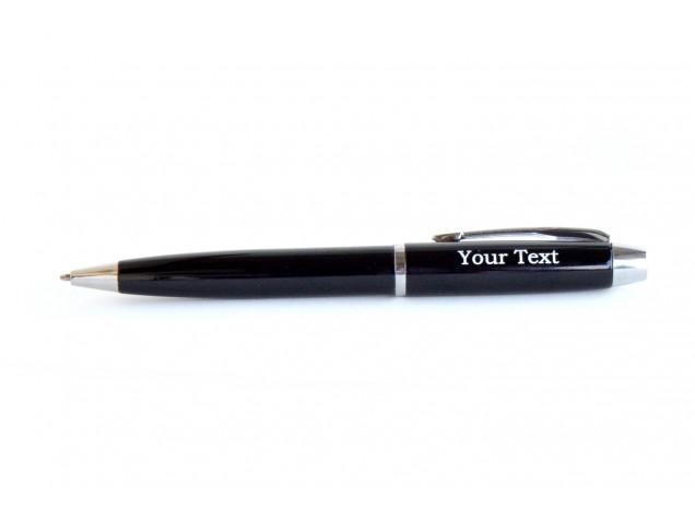 Black & Silver Rim personalised pen