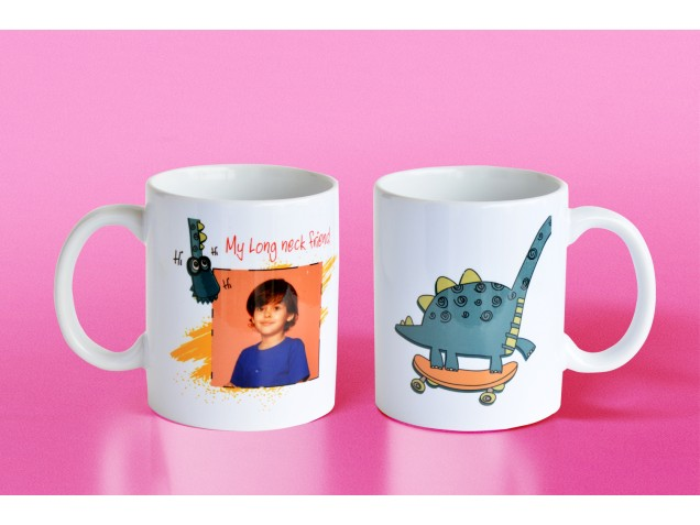 Long Neck Friend Personalised Mug