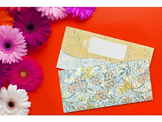 Forest Floral Design Shagun Envelopes - Pack of 12