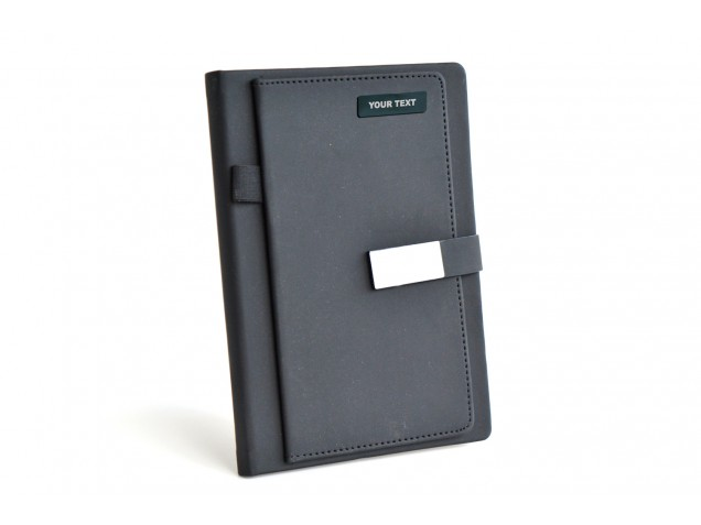 Thermo PU Olive Black Matte Personalised Planner