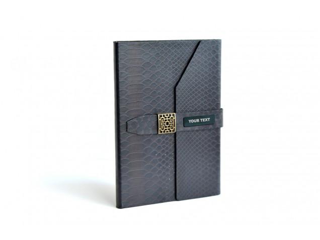 Black Snake Style PU Diary