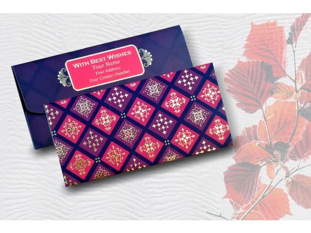 Red & Maroon Box Personalised Shagun Envelope Premium - pack of 20