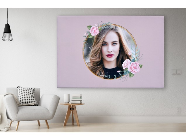 Image with flowers canvas