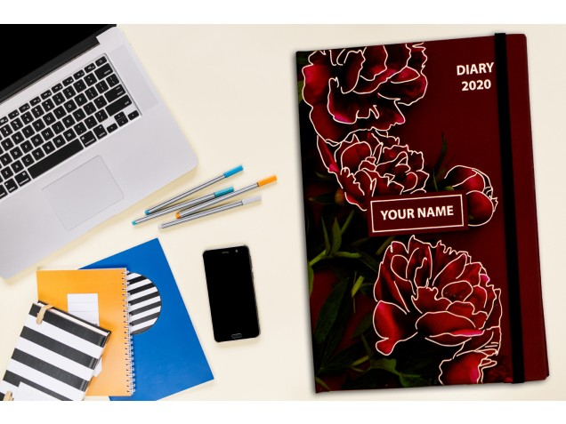 Floral Effect  Personalised Notebook