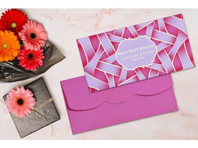 Peach Web Design Personalised Shagun Envelope - Pack of 20