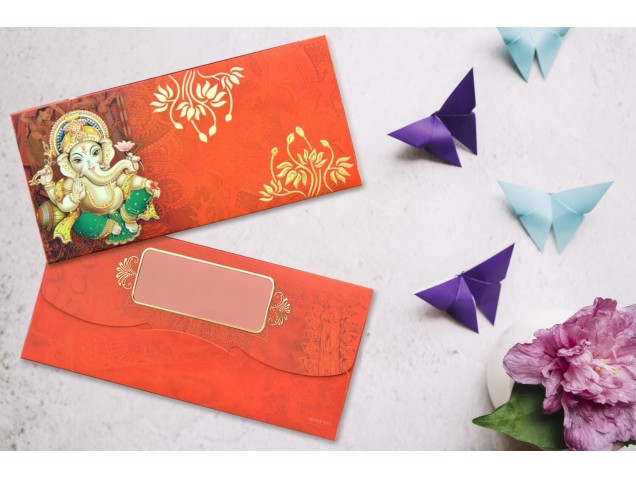 Shree Ganesha Shagun Envelope - Pack of 12