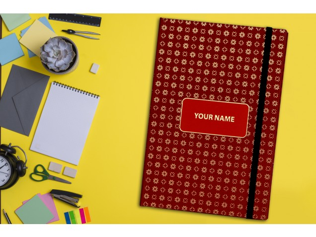 Maroon Abstract Personalised Notebook