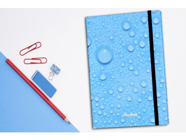 Water Drops Personalised Notebook