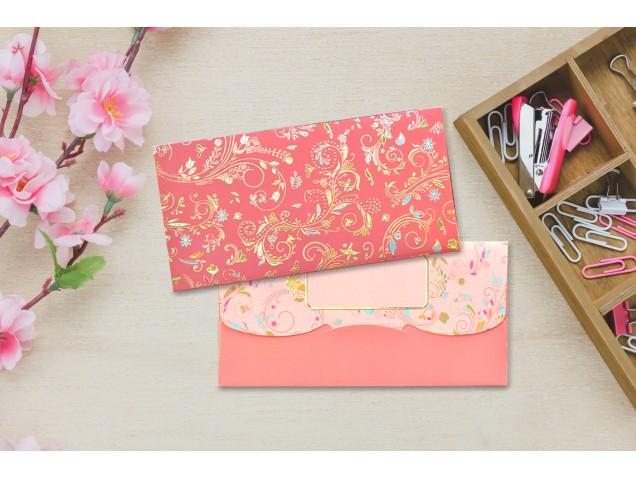 Peach Blossom Shagun Envelope - Pack of 12(With Luxor Marker)