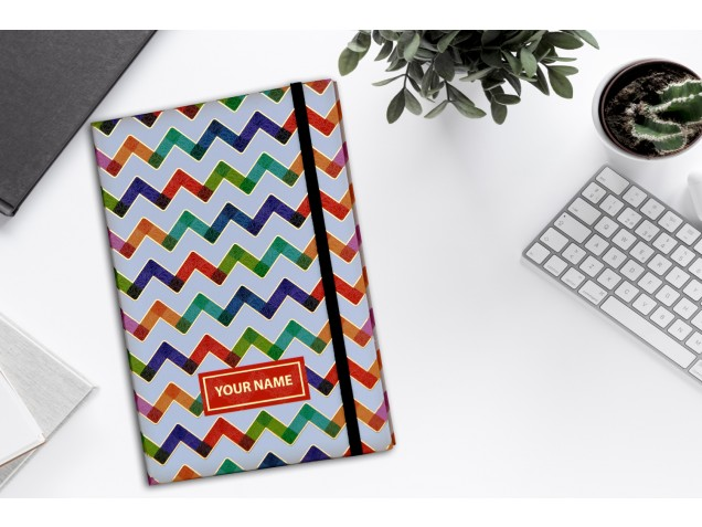 Zig-Zag Personalised Notebook