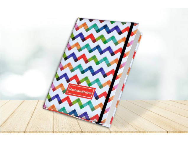 Zig-Zag Personalised Notebook