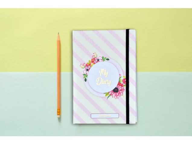 Elegant Floral  Personalised Notebook