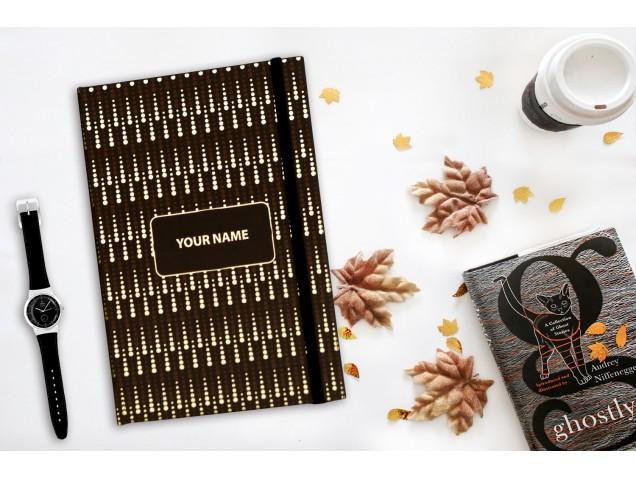 Gold Rain Personalised Notebook