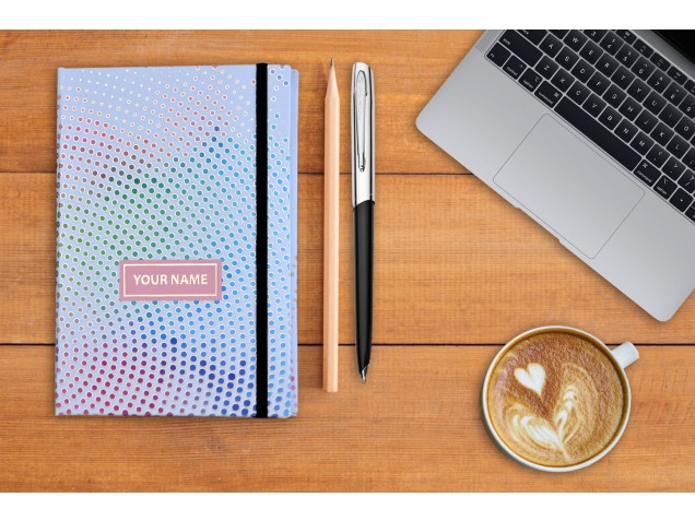 Dots Illusion  Personalised Notebook