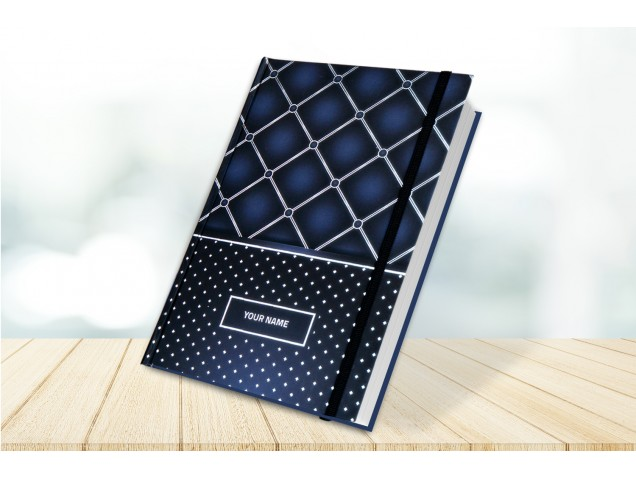 Checks & Dots  Personalised Notebook