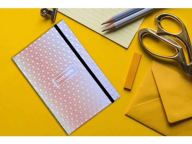 Peach Designer Personalised Notebook