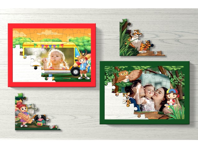 Jungle Safari Personalised Puzzle- Set of Two