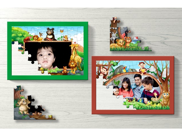 Rainforest Personalised Puzzle-Set Of Two