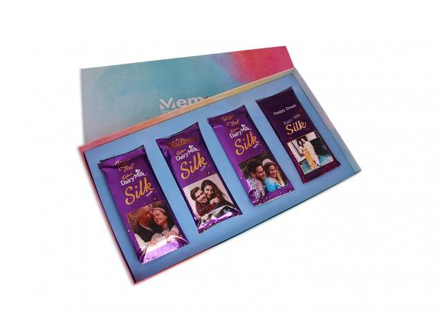 cadbury Dailry milk Silk Customised - Set of 4