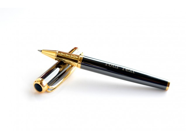 Premium Grey and Gold Personalised Pen