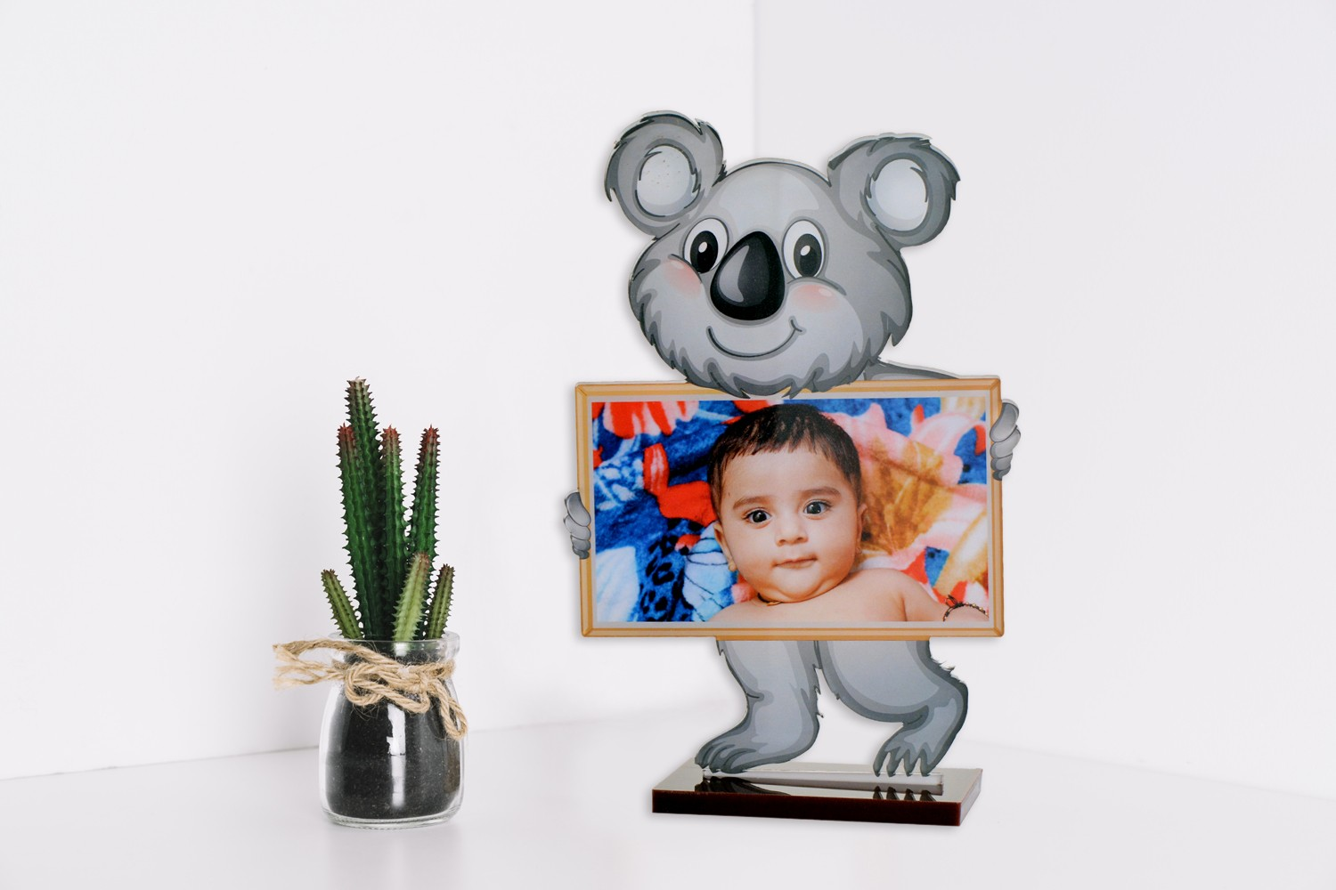 Baby Bear Acrylic Cartoon Photo Stand