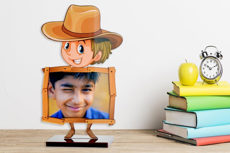 Cowboy & Me Acrylic Cartoon Photo Stand