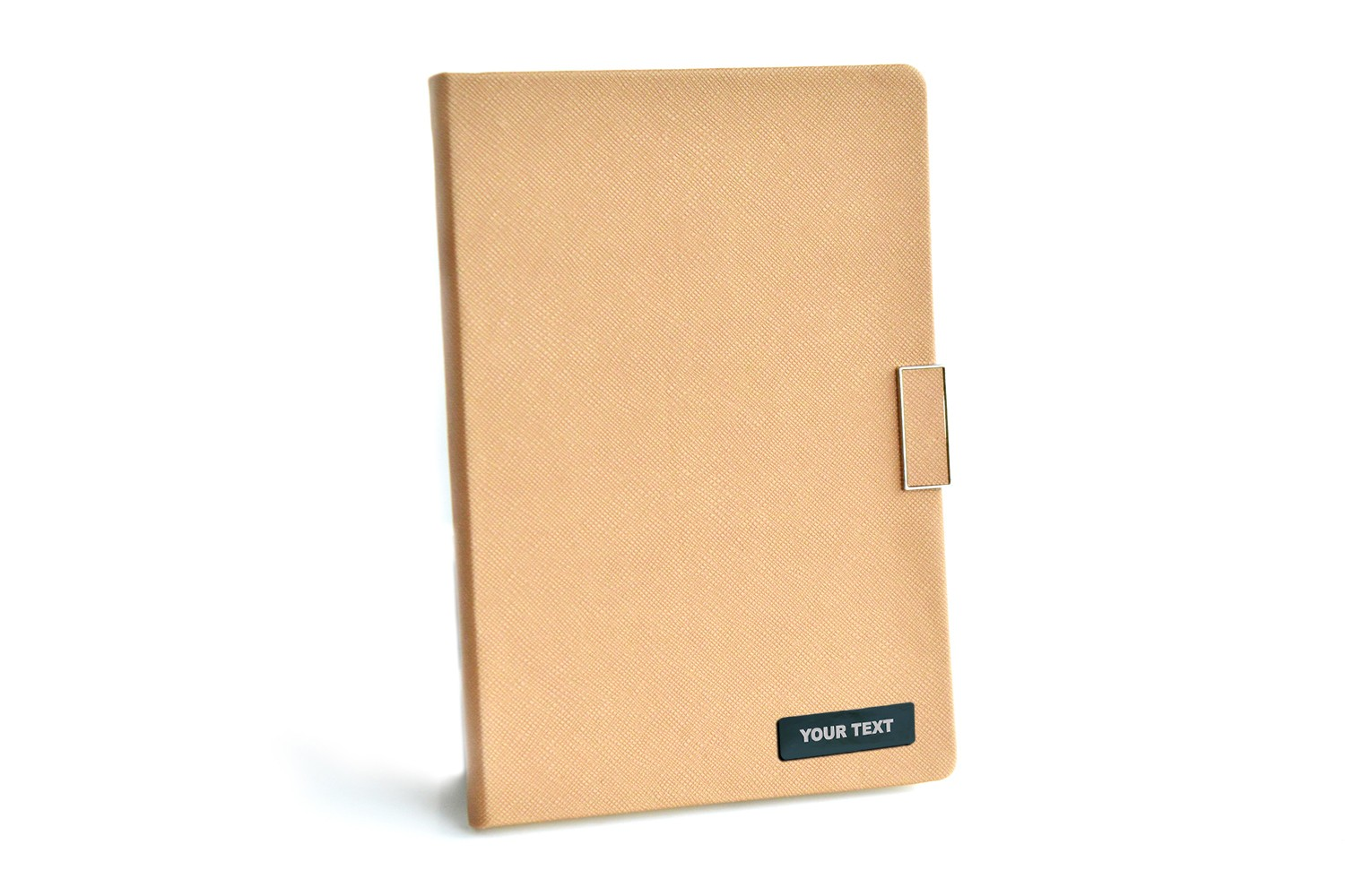 Off White Thermo Texture PU Personalised Diary