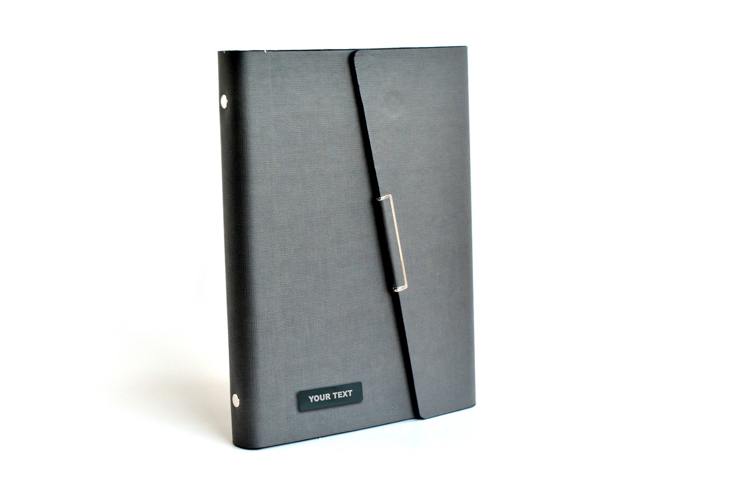 Thermo PU Grey Personalised Business Planner