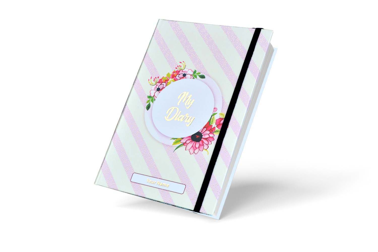 Elegant Floral  Personalised Notebook