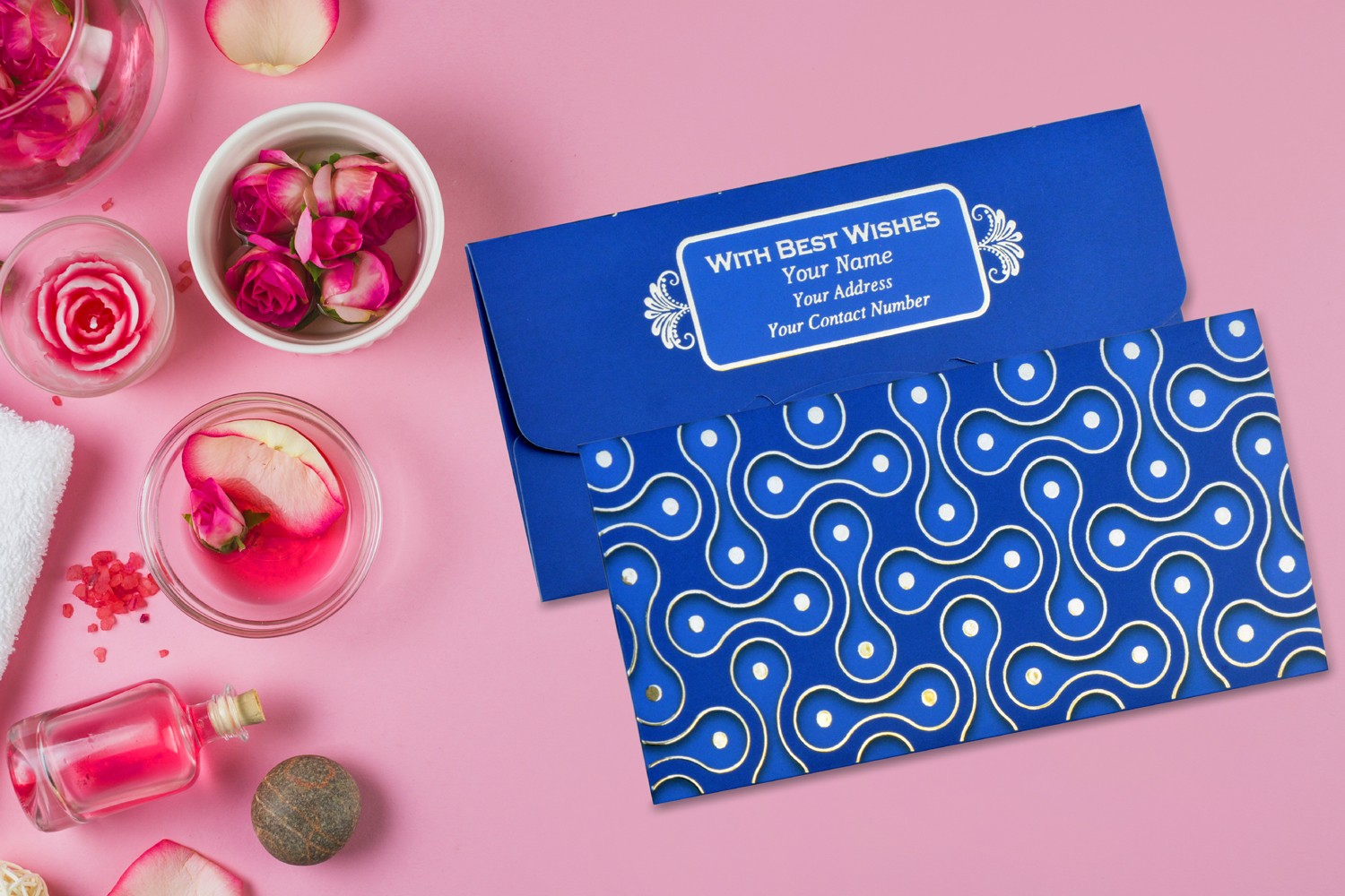 Blue Balloon Personalised Shagun Envelope Premium - Pack of 20