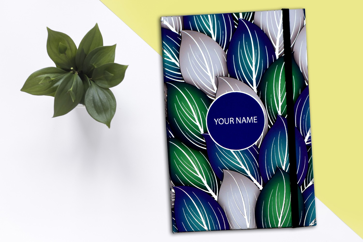 Silver Leafs Personalised Notebook