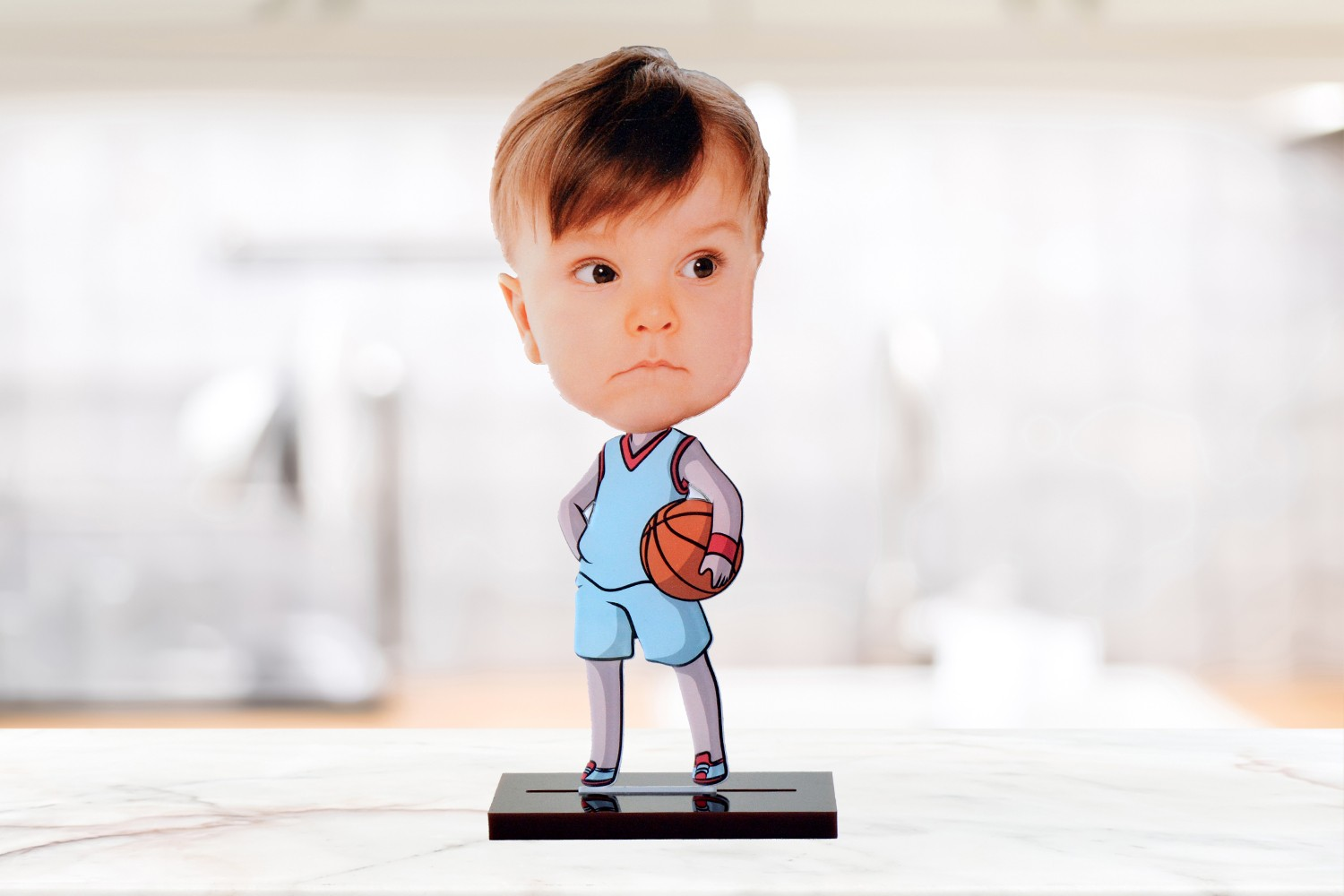 Basketball player caricature