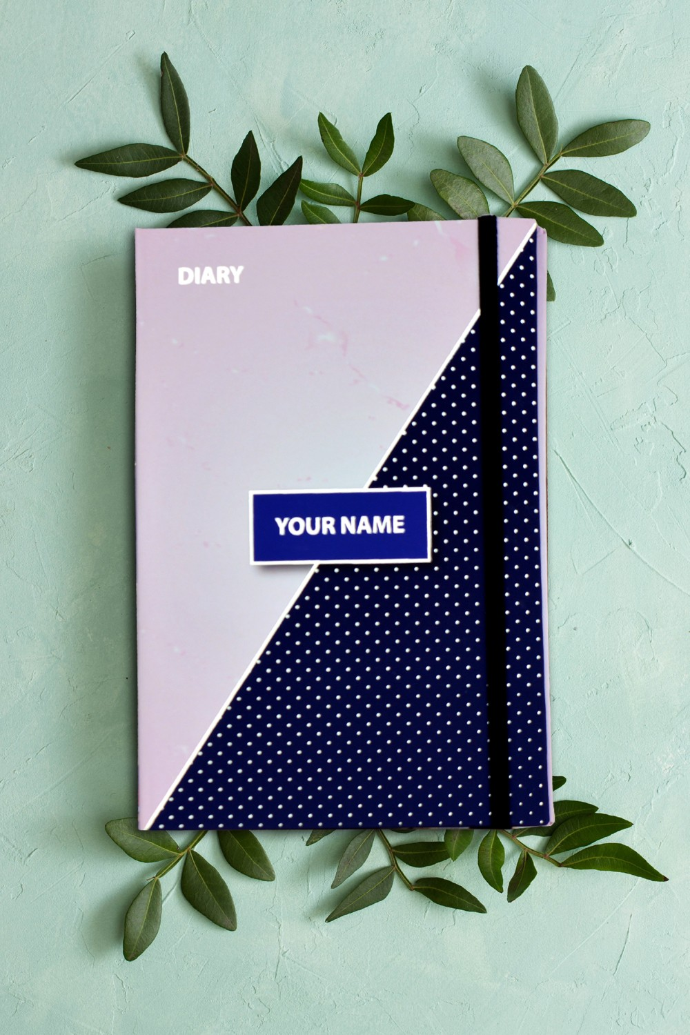 Marble with Triangle Personalised Notebook