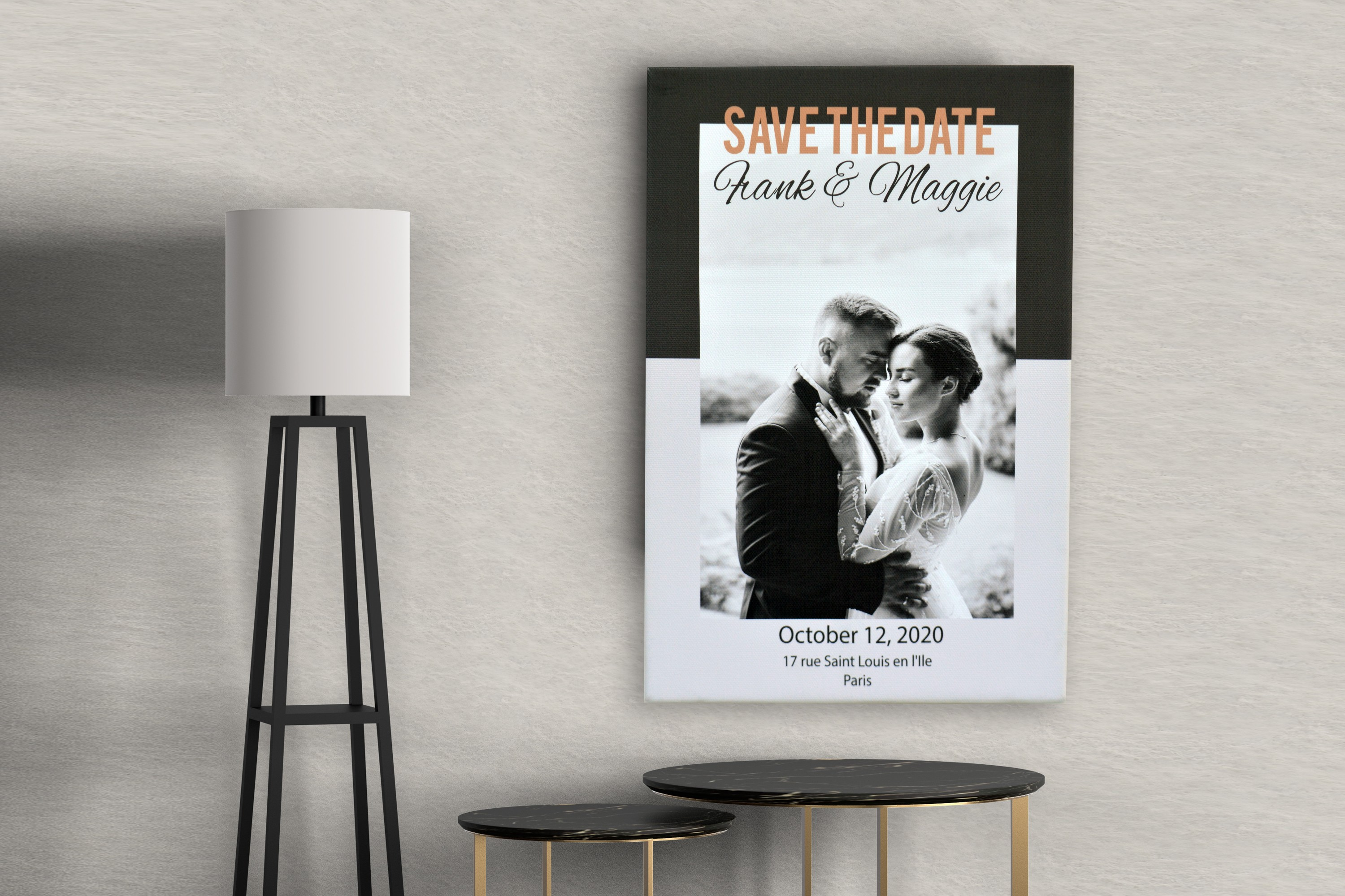 Save the date canvas