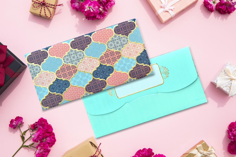 Tile Design Shagun Envelope -Pack of 12(With Luxor Marker)