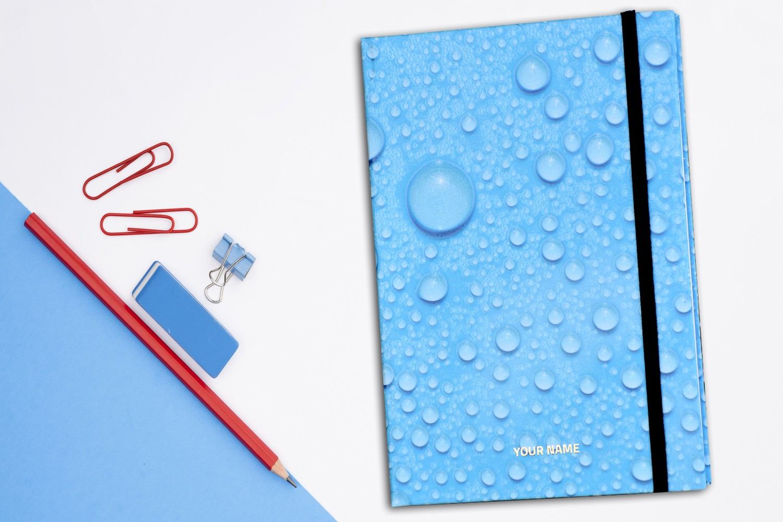 Water Drops Personalised Notebook