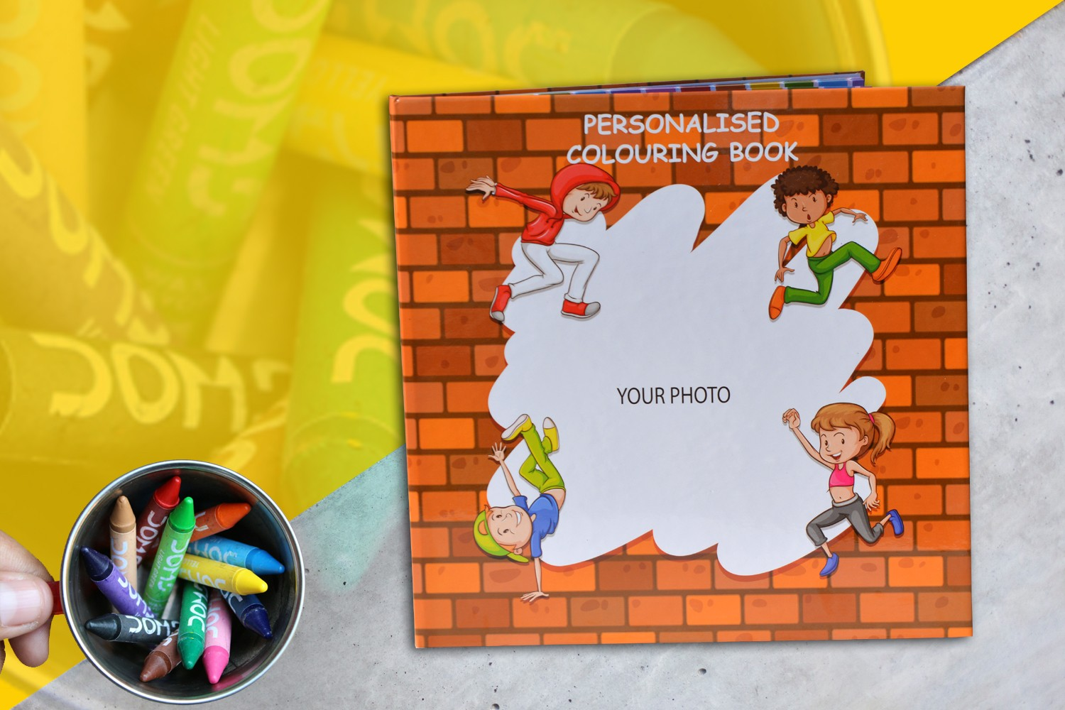 Paint the Walls Coloring Book(For kids 3-7 years)