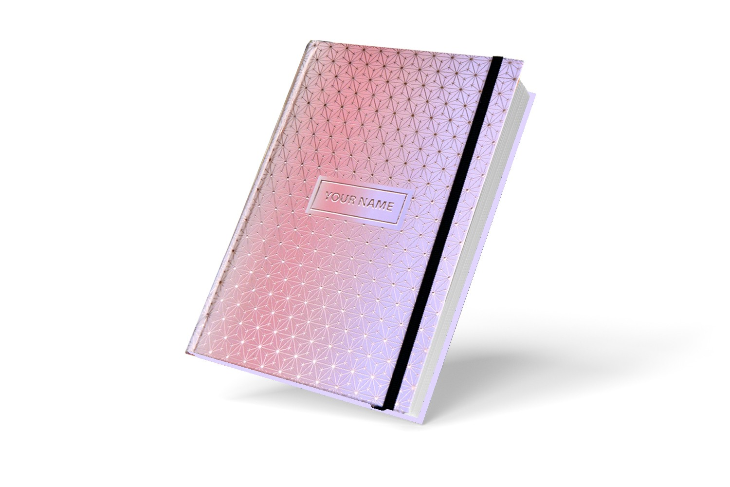Peach Designer Personalised Notebook