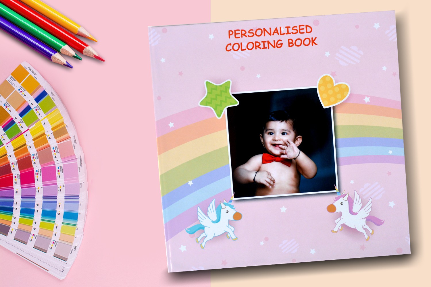 Crayons and prisms Drawing Book