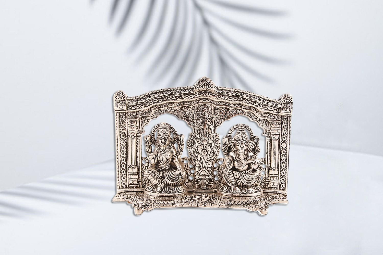 Ganesh Laxmi Idol - Silver