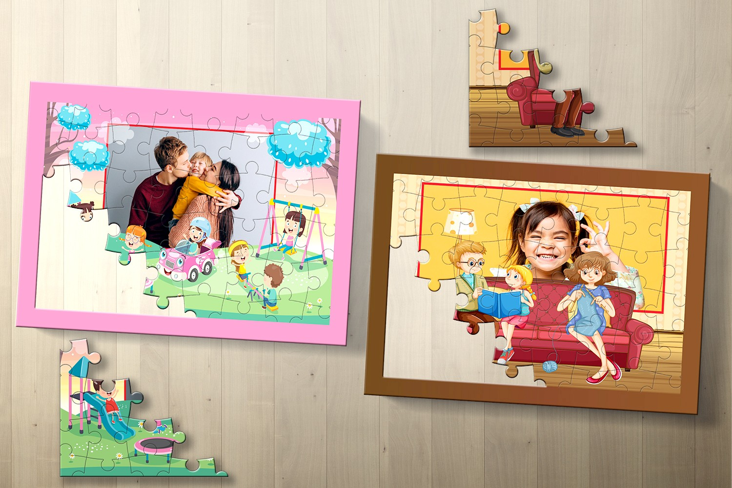 Family Love Personalised Puzzle - Set of Two