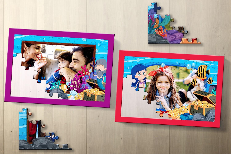 Mermaid Personalised Puzzle - Pack of Two